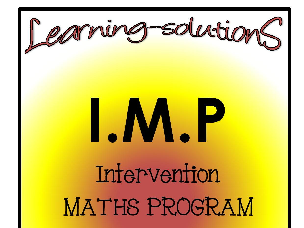 INTERVENTION MATHS PROGRAM BUNDLE - IMP Year 2 - Includes SCREENERS, ACTIVITIES, ANSWER BOOK and GAMES