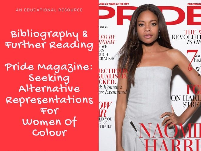 Pride Magazine Teacher Notes - Bibliography and Further Reading Links