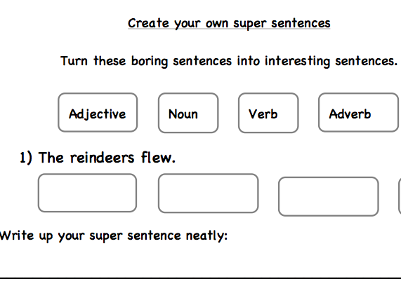 Build up a super Christmas sentence!