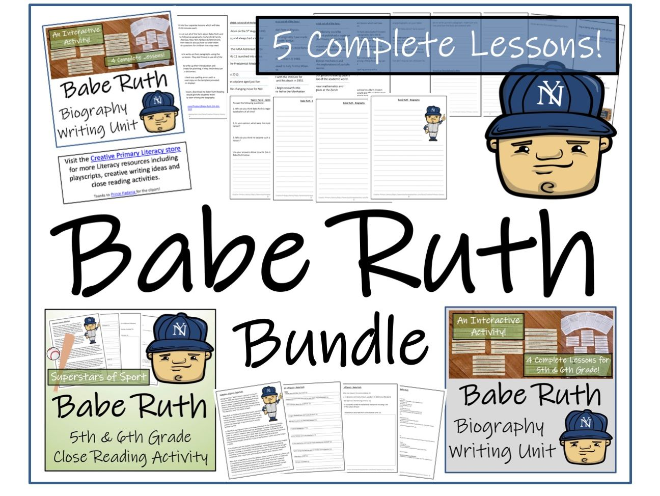 UKS2 History - Bundle of Activities about Babe Ruth