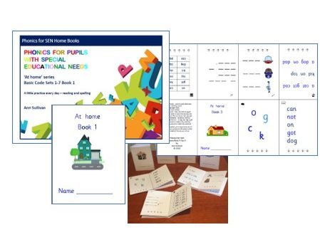 At Home Books - Reading and Spelling Practice at Home - Basic Code - Phonics for SEN