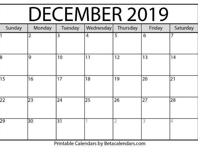 Blank December 2021 Calendar Printable