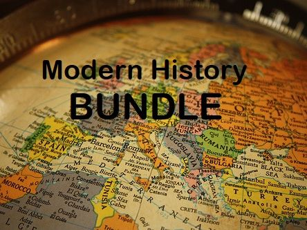 Modern History Bundle - Reading Comprehension Worksheets - Texts (SAVE 80%)