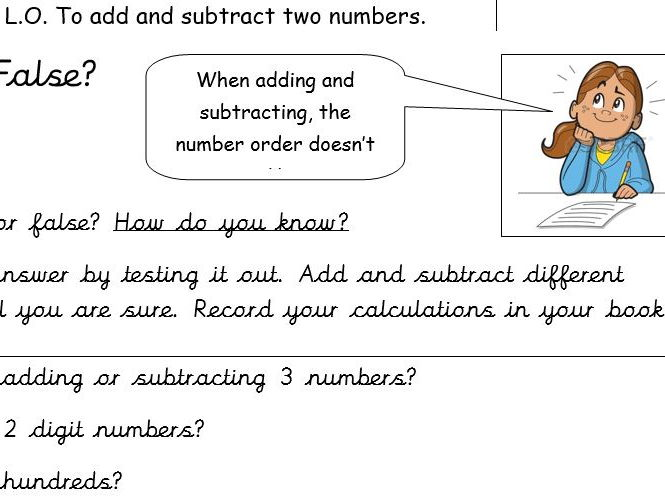 Maths - number order investigation