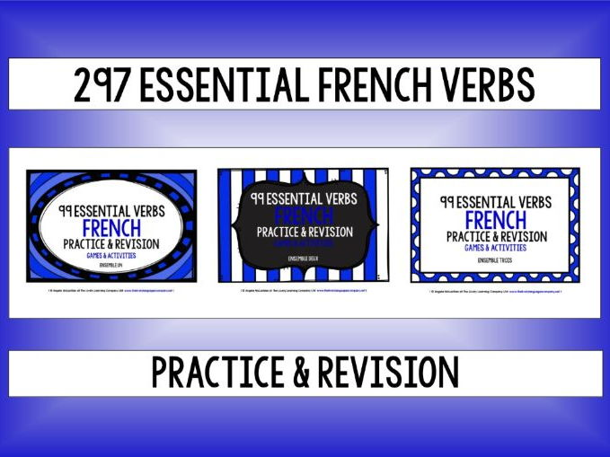 FRENCH VERBS (1-3) - PRACTICE & REVISION - 297 VERBS