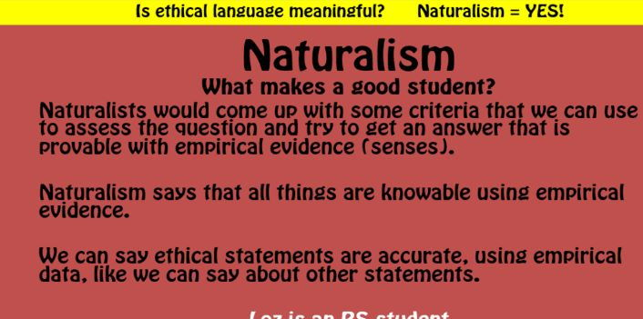 Ethical Language - Meta Ethics (A Level RS/Philosophy and Ethics