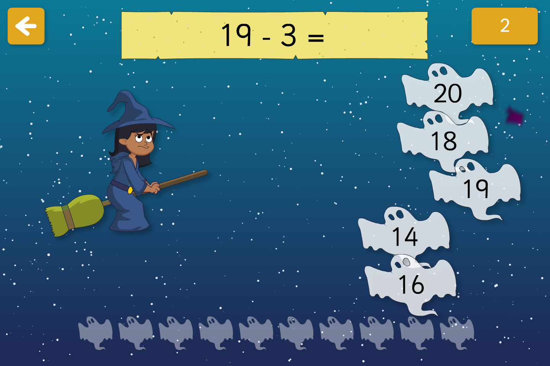 Spooky Maths Subtraction - Interactive Activity - Halloween KS1 by ...