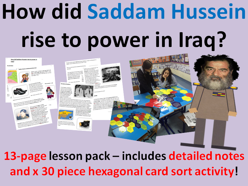 Saddam Hussein Rise to Power - 13-page lesson pack