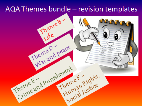 REVISION TEMPLATES FOR AQA GCSE RS THEMES B,D,E,F