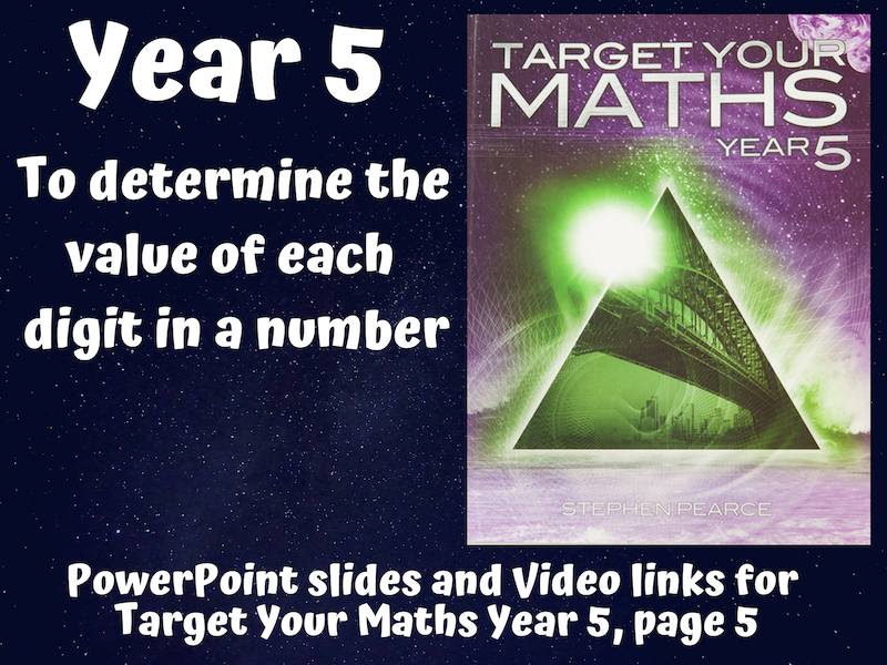 To determine the value of each digit in a number (Target Your Maths Year 5)