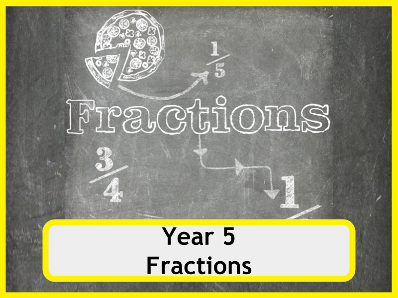 Year 5 Fractions Worksheets