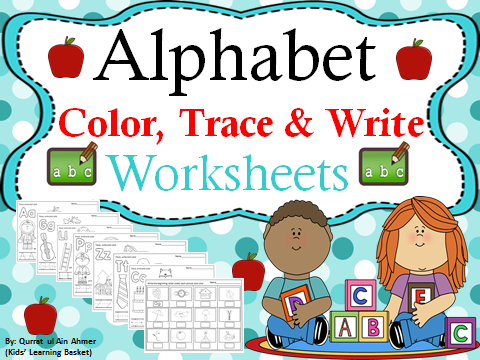 Alphabet Coloring Pages(trace&write)