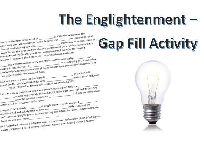 The Enlightenment Gap Fill Activity