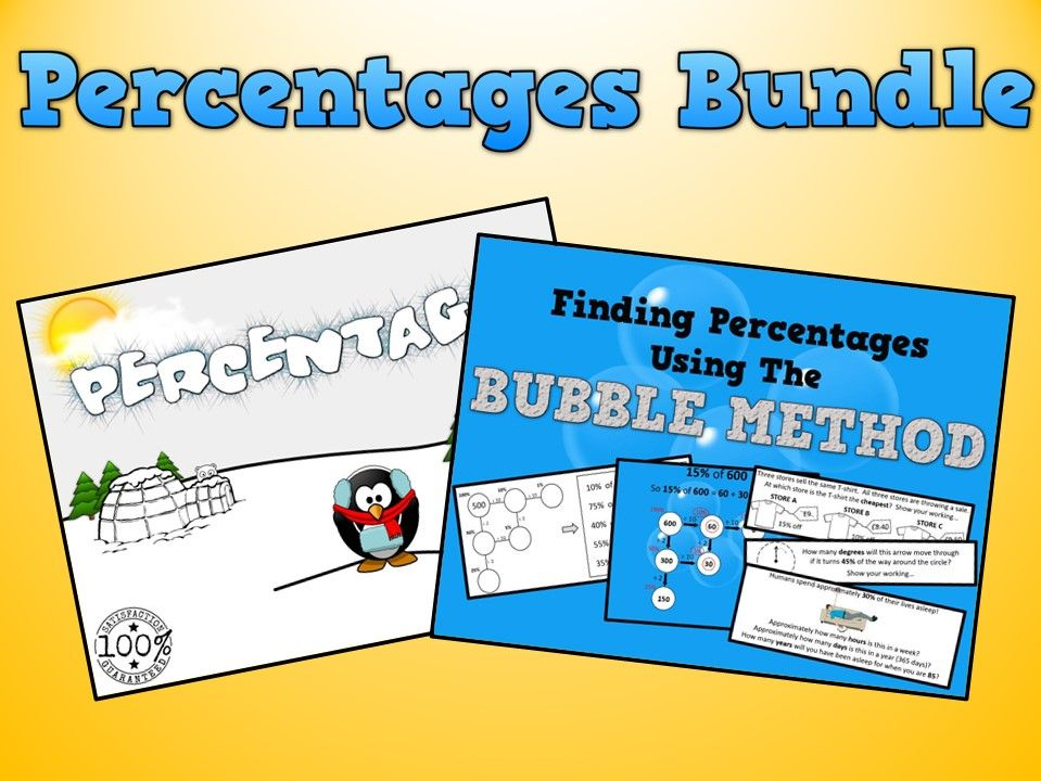 Percentages Bundle for Year 5/6 or Grade 6