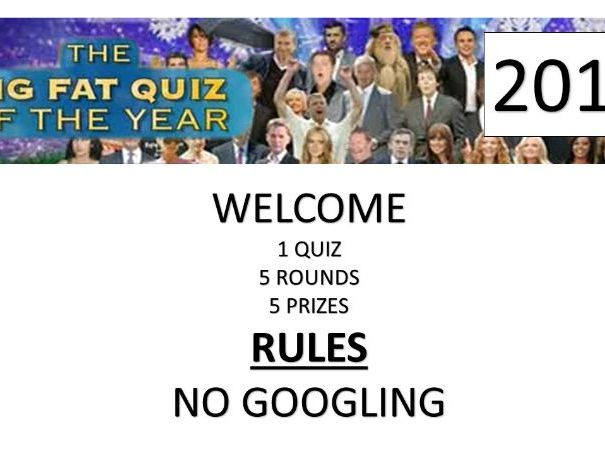 BIG QUIZ OF THE YEAR 2019 5 ROUNDS