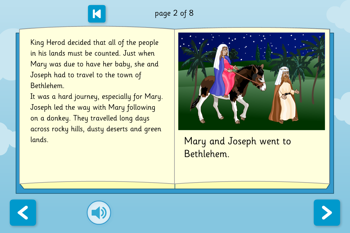 The Nativity - Interactive Storybook - Reading Level A - Christmas KS1