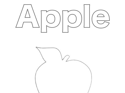 Apple colouring pages