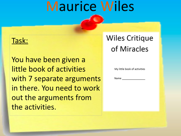 Wiles and Miracles