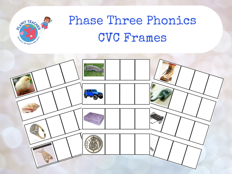 CVC Phoneme Frames - EYFS - Phase 3 Phonics Letters and Sounds