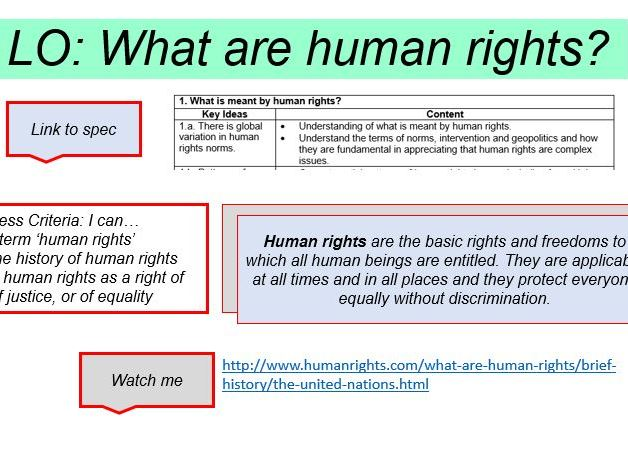Human Rights Lessons OCR A-Level