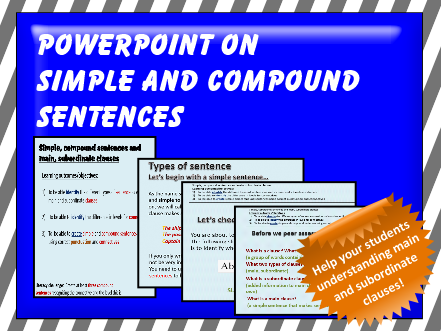 SIMPLE AND COMPOUND SENTENCE POWERPOINT