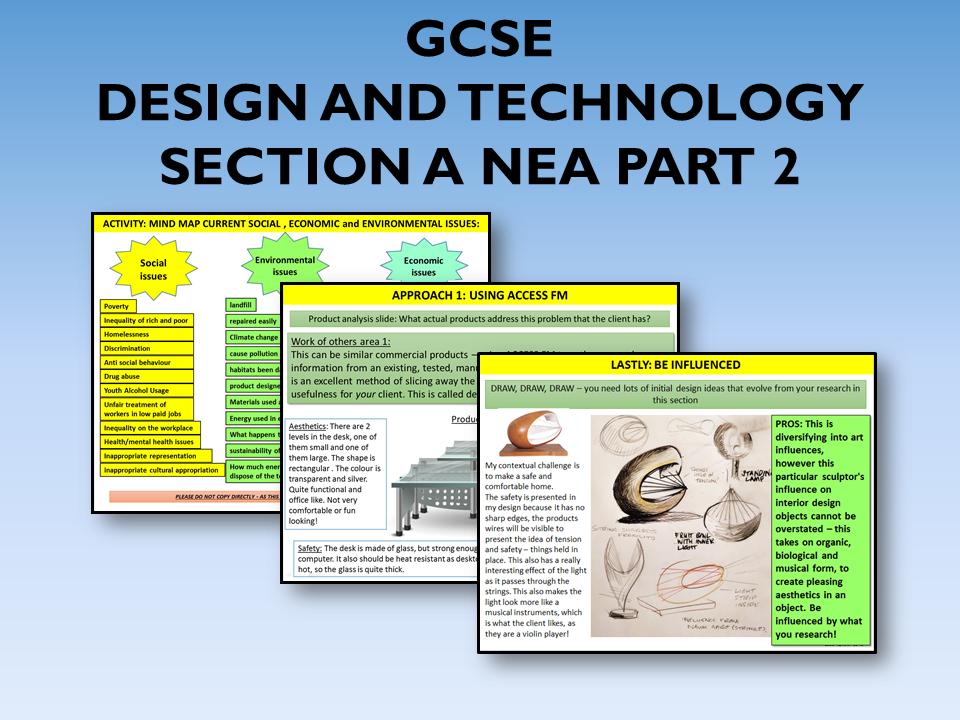 2021 AQA DT GCSE NEA Section A Part 2