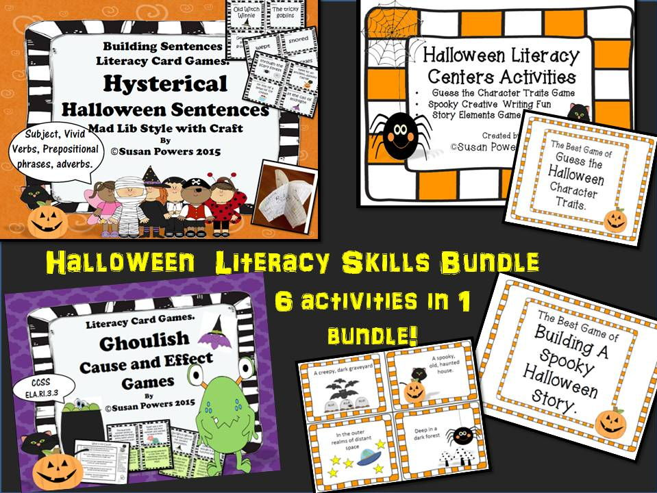 A Big,Spooky Bundle of Halloween Literacy Activities and Craftivity