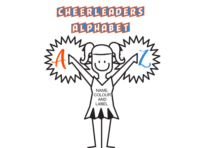 Cheerleaders Alphabet Pack