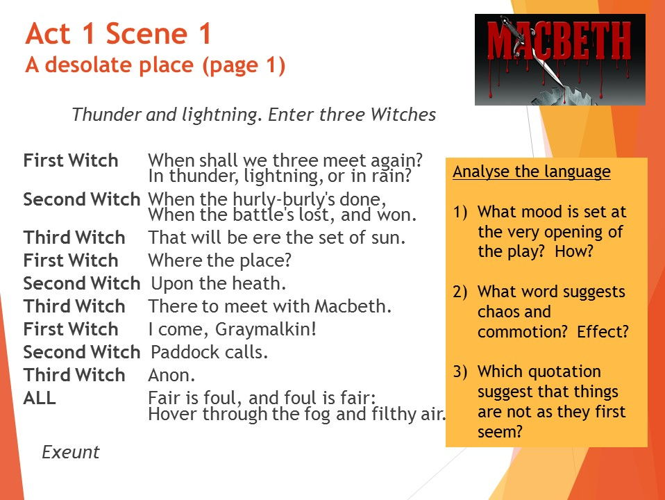 a description of macbeth of literature examination A secondary school revision resource for gcse english literature about sample questions for shakespeare's macbeth.