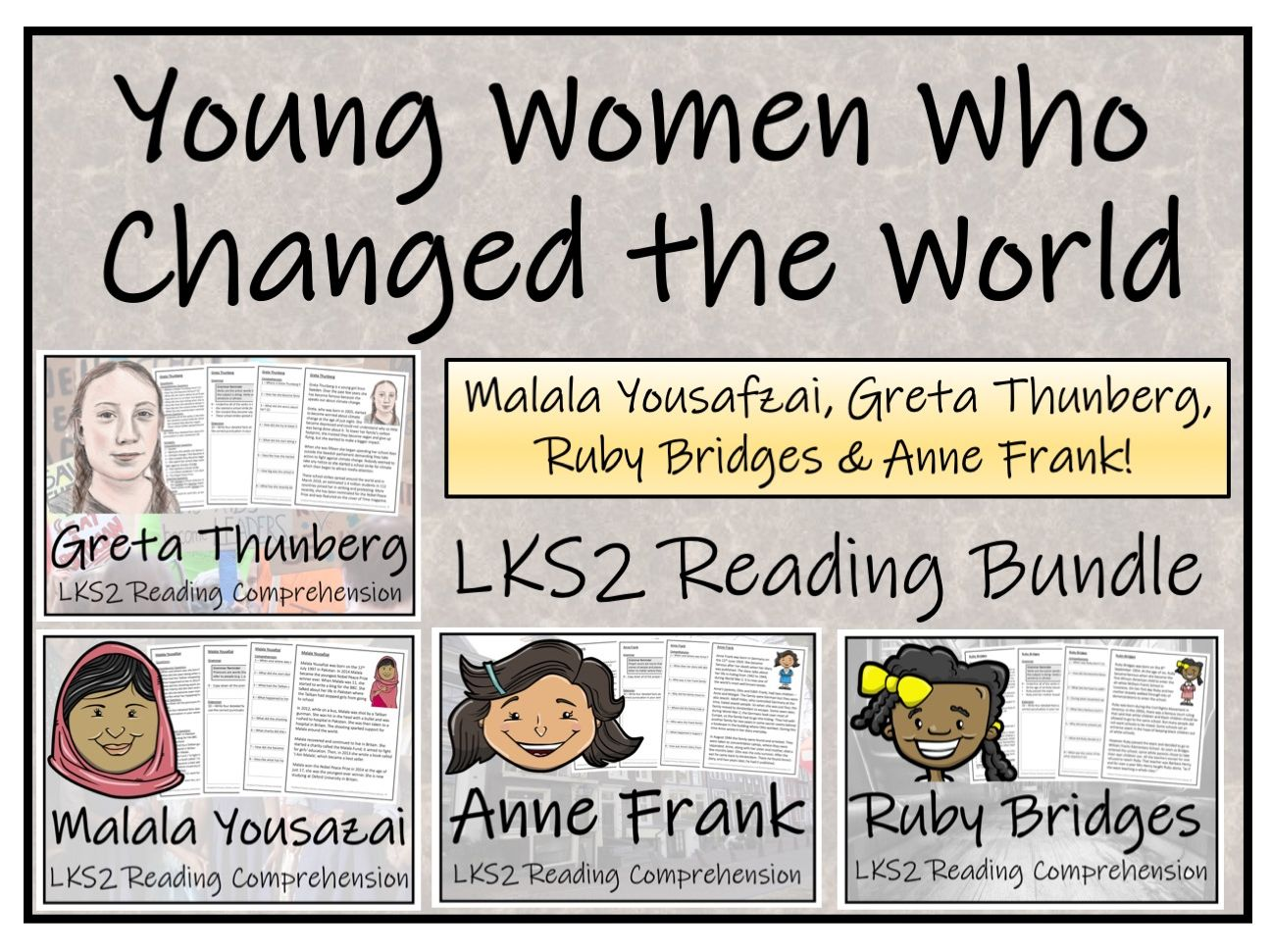 LKS2 Young Women Who Changed the World Reading Comprehension Bundle