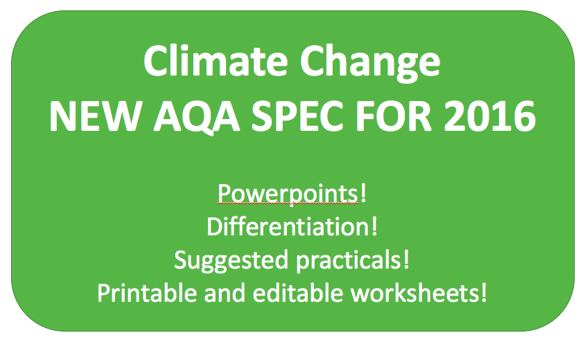 Climate Change NEW KS3 AQA SPEC 2016
