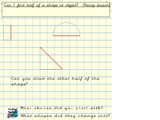 White Rose Maths, Summer Block 2, Year 1.  Week 1.  Fractions.