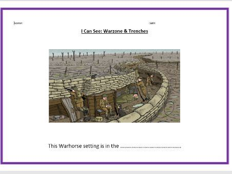 World War One & Warhorse - Differentiated Worksheet Activities