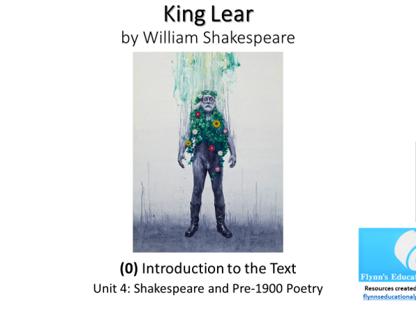 A Level Literature: (0) King Lear – Introduction to the Text
