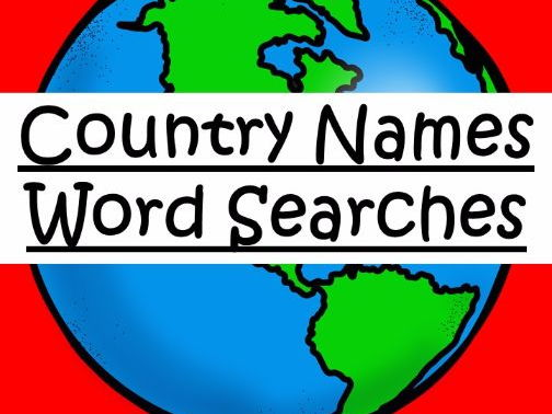 Country Names Word Searches