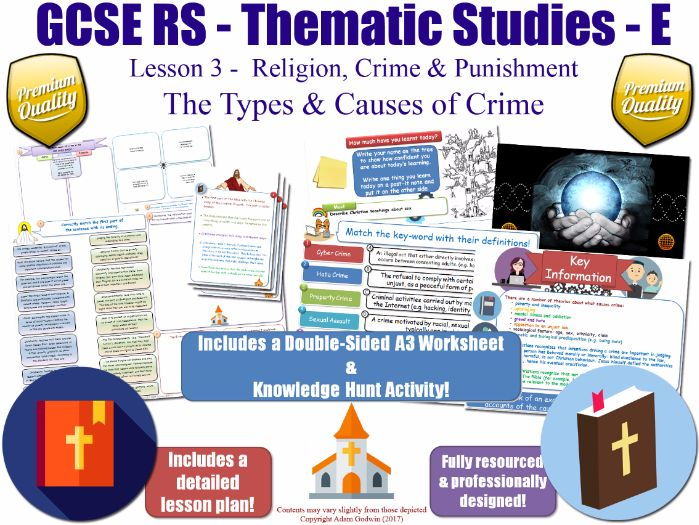 The Causes of Crime [GCSE RS - Religion, Crime & Punishment L3/10] Theme E