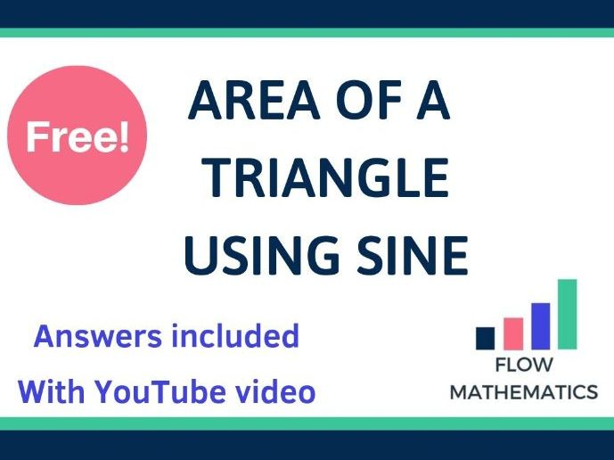 Using Trigonometry for Area of Triangles - With YouTube Video