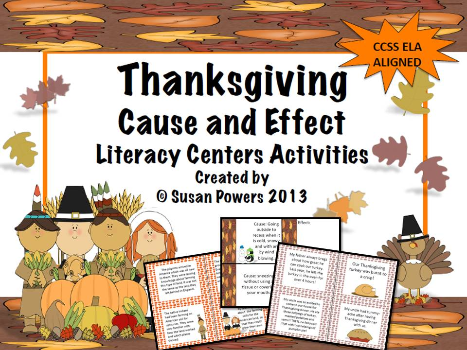 A Thanksgiving Cause and Effect Reading Activity