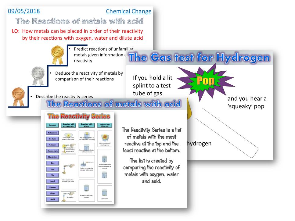 AQA Trilogy / Chemistry - Metals and acid