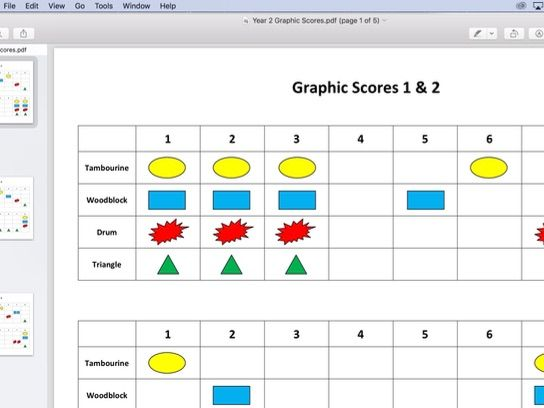 Year 2 Music lesson plan - Graphic Scores