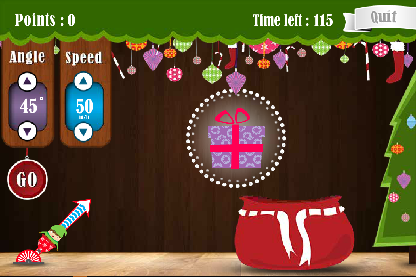 Fling the Elf Interactive Game - Christmas KS2