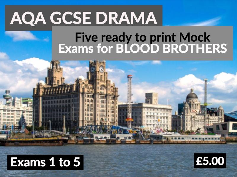 5 Blood Brothers Mock Exams for AQA Drama GCSE