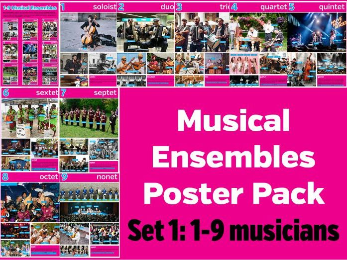 Music Ensembles Poster Pack 1