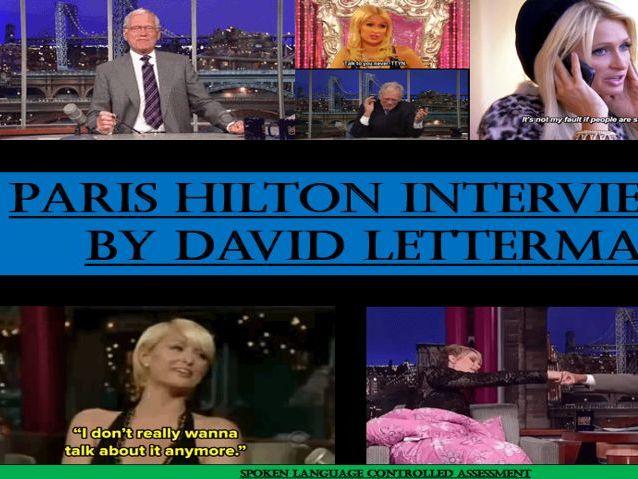 GCSE English Language - Spoken Language SOW (Paris Hilton & David Letterman)