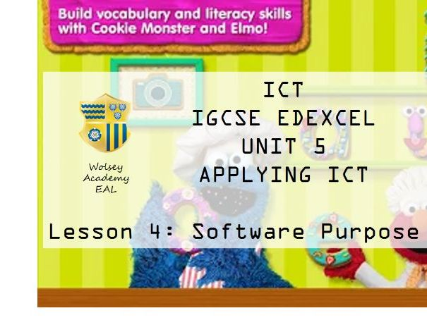 4.ICT>IGCSE>Edexcel>Unit 5>Applying ICT>Software Purpose Part B