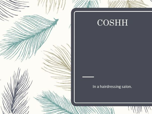 COSHH in a hairdressing salon