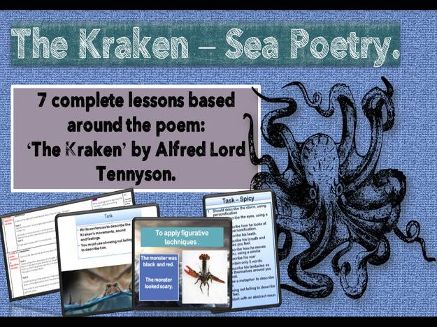 The Kraken (sea Poetry)  7 COMPLETE days of  planning - fully resourced.