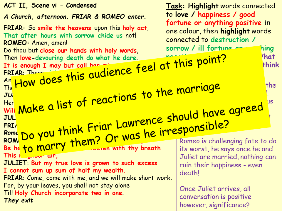 R&J Whole Play Revision SOW & Lessons