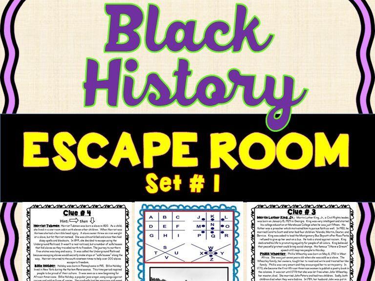 Black History Month Escape Room-  No Prep!