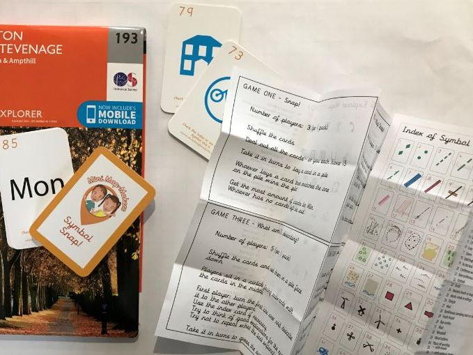 Symbol Snap - Card Set A (45 cards) with 4 games and Index plus free OS Map